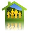 Reflet de famille vert et jaune