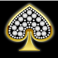 symbols of playing cards with diamonds