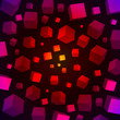 Colorful 3D cubes vector background. EPS10 file.