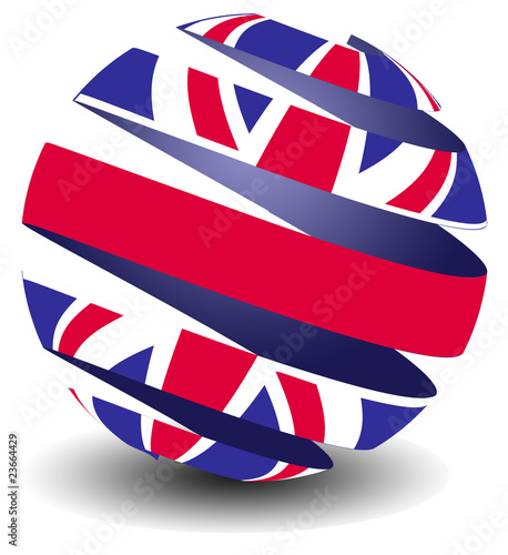 UK flag with peeling effect