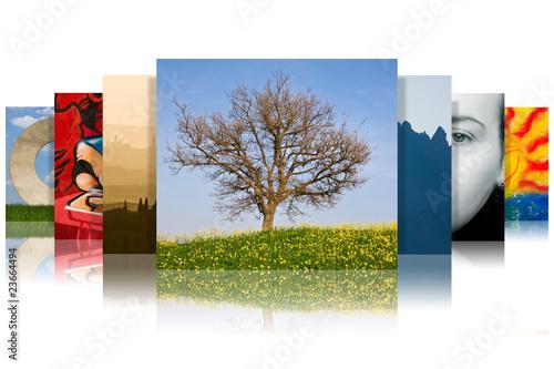Leinwanddruck Bild scala di foto