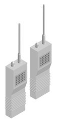 Vector illustration of generic set of walkie talkies