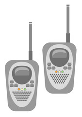 Vector illustration of generic set of walkies talkies