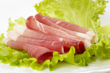 Ham and lettuce
