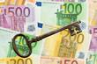Euro Geldscheine mit Schlüssel