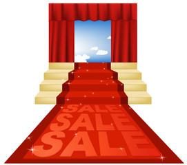 Sale red carpet