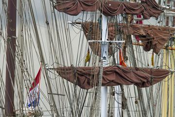 Masten und Takelage von Segelschiffen