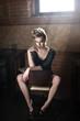 Fototapete Schönheit - Blond - Frau