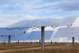 A Field of Renewable Green Energy Solar Mirror Panels poster