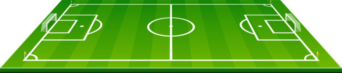 Terrain de football vue de coté (détouré)