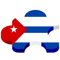 vector pazl with national symbolics of Cuba