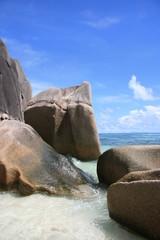 Felsenstrand auf den Seychellen