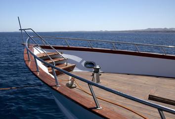 Yacht at sea.