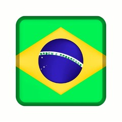 animation bouton drapeau brésil