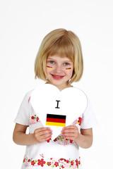 blondes Mädchen Fußball WM 18