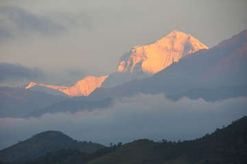 Himalaya glittering in the morning sun