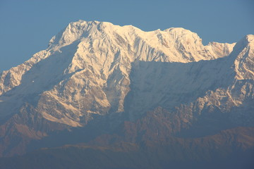 Himalaya glittering in the morning sun