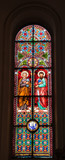 stained glass from Riga carhedral poster