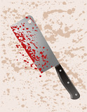 Murder weapon cleaver poster