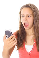 teen yelling at the phone