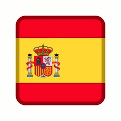 animation bouton drapeau espagne
