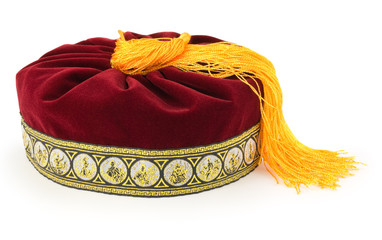 greek fez isolated on white