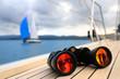 Binocular on the deck of yacht - 23689062
