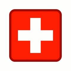 animation bouton drapeau suisse