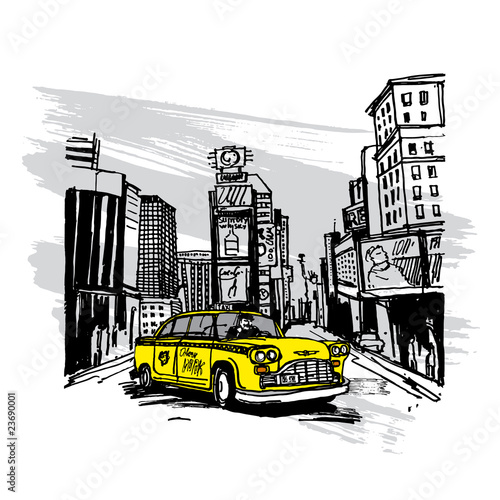 Yellow Cab In New York - 23690001