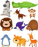 Fototapety wild animals set