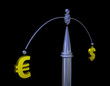 Exchange balance of Euro and dollar