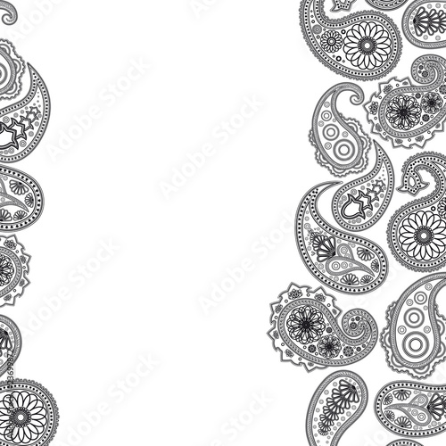Eps Paisley  surface. Vector abstract background