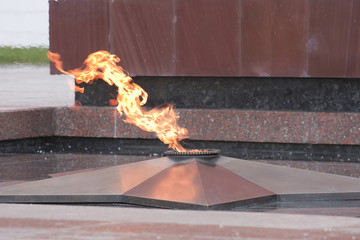 Detail of the flame of eternal fire
