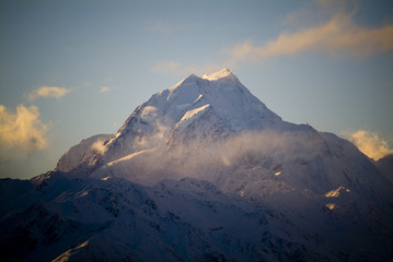 The highest peak in New Zealand is Mt Cook, at 3755m.