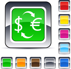 Money exchange square button.