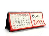 Desktop Calendar 2011 October poster