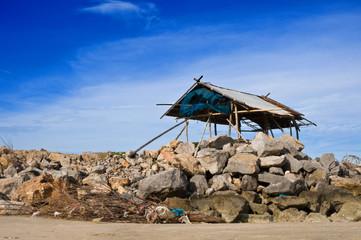 stone pier  hut