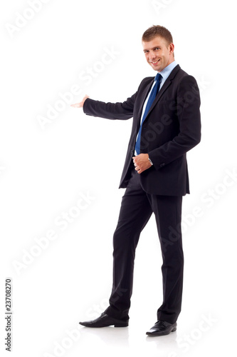 businessman presenting