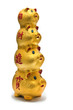 Golden chinese piggy banks