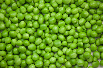 Background of green and round peas
