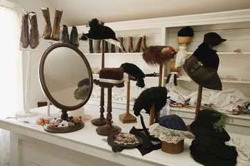 Historical Hat And Shoe Shop In Fort Edmonton, Alberta