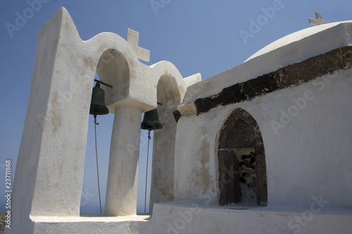 Old Church Bell Tower on Santorini Island, Greece