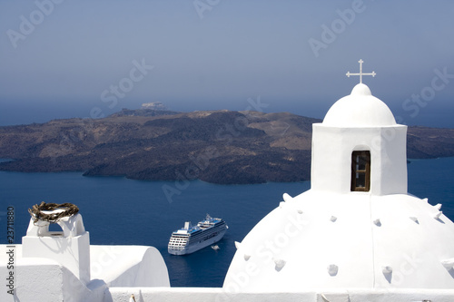 Picturesque Santorini Island, Greece