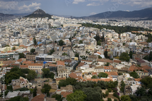 Panorama of Athens seen from Acropolis. Greece, Europe