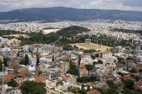 Panorama of Athens from Acropolis Hill. Greece, Europe