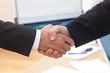 shaking bosses hand