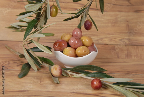 Leinwandbild Motiv green olive4