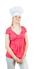 Portrait of smiling female cook