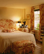 Coordinating Toile de Jouy Fabrics in Traditional Bedroom