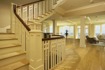 White Oak Hardwood Floors and Treads in Home